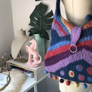 Rising Tide • Felted Wool Shoulder Bag